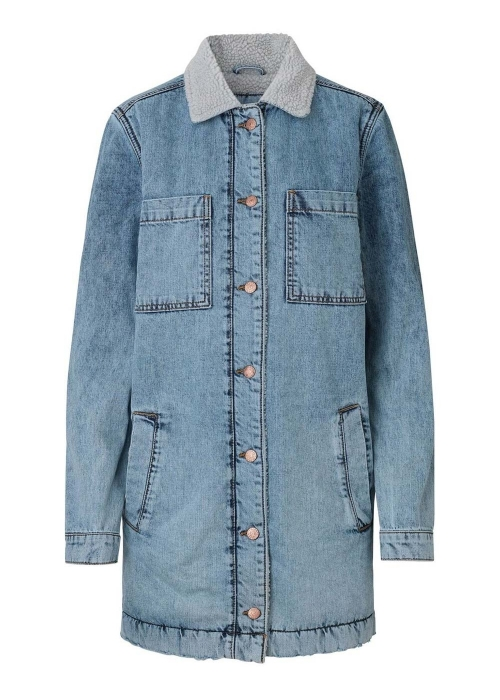Burris teddy denim jacket TRASHED BLUE