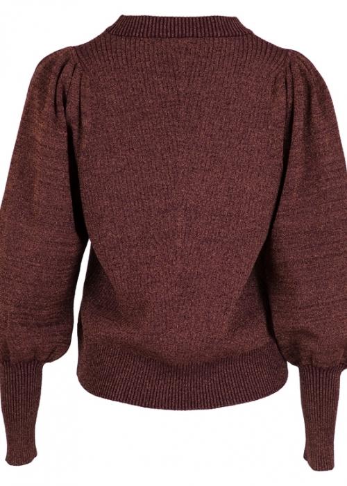 Kelsey Lurex Knit Blouse EVENING ROSE