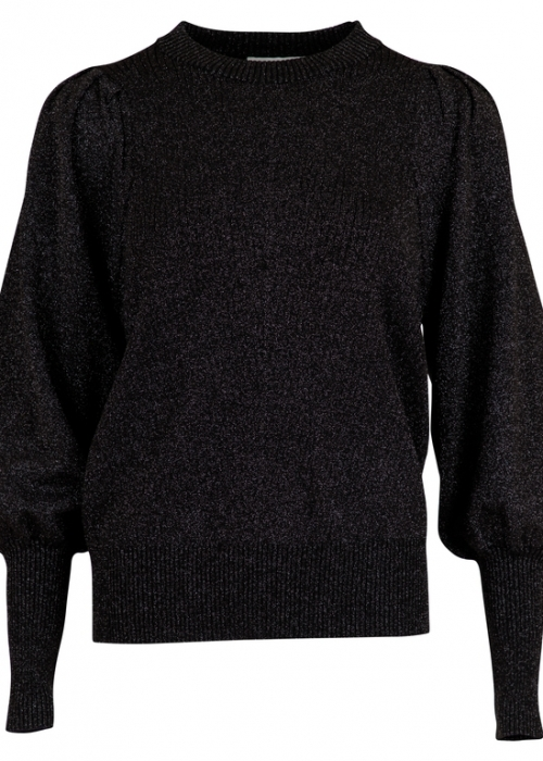 Kelsey Lurex Knit Blouse BLACK