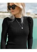 Neo Noir Vince knit blouse BLACK