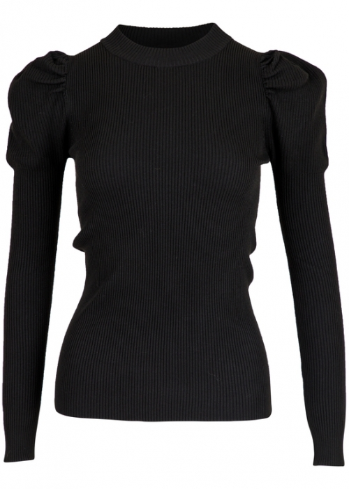 Neo Noir Vince knit blouse BLACK