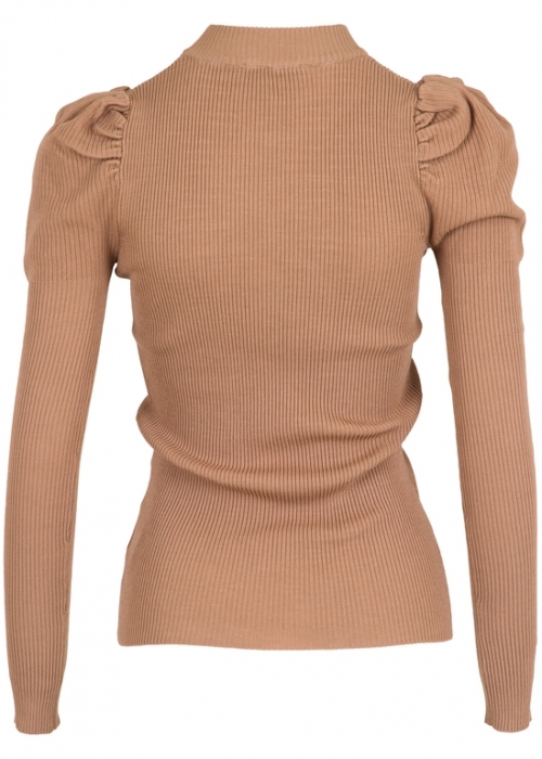 Neo Noir Vince knit blouse CAMEL