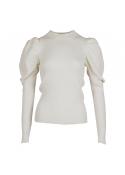Neo Noir Vince knit blouse OFF WHITE