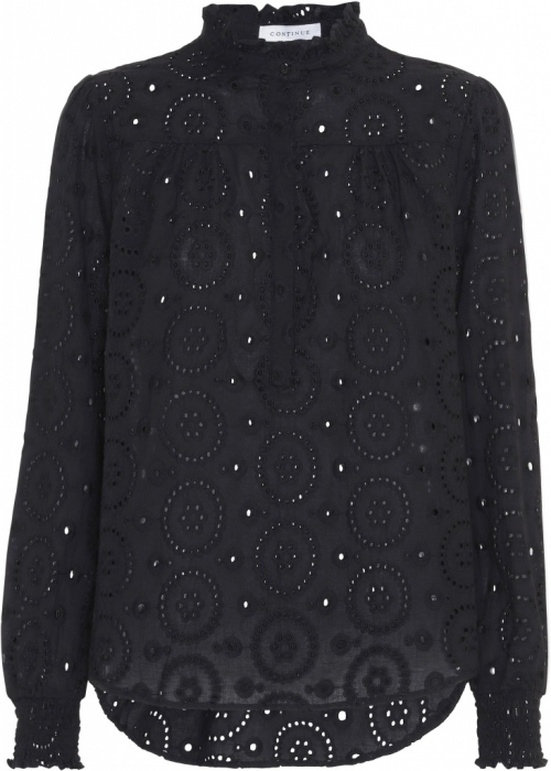 Asta blouse broderi anglaise BLACK
