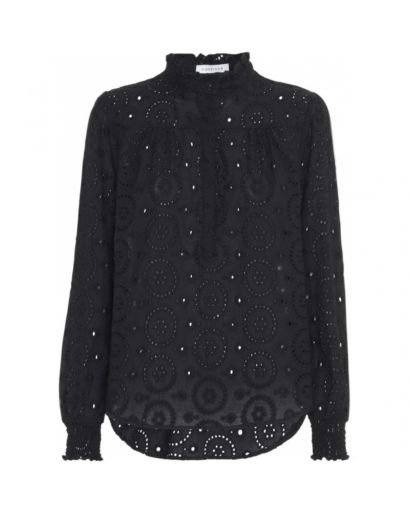 Asta blouse broderi anglaise BLACK
