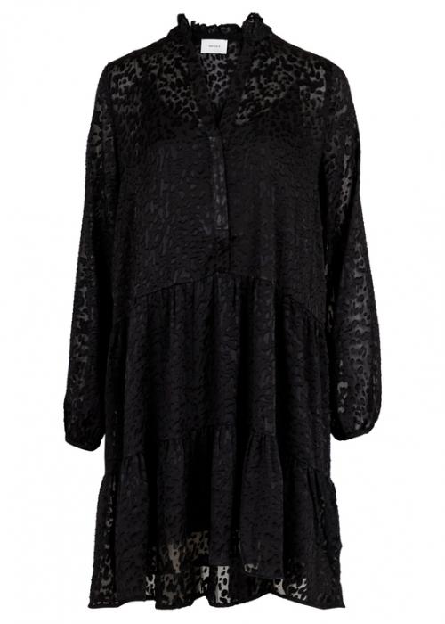 Federica burn out Dress BLACK