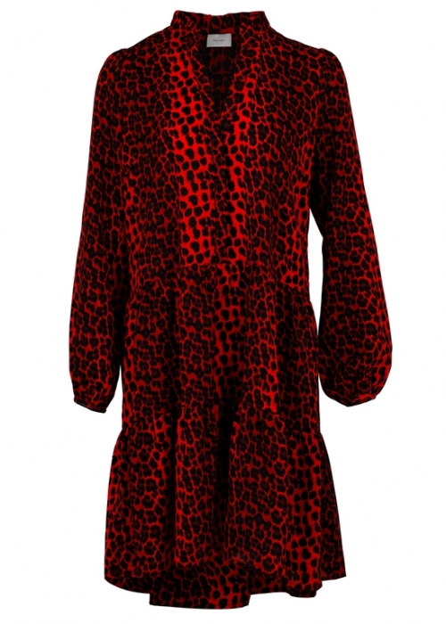 Neo Noir Federica Dress RED LEO