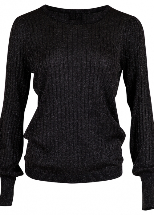 Neo Noir Loline solid knit blouse BLACK
