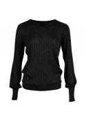 Neo Noir Loline solid knit blouse BLACK
