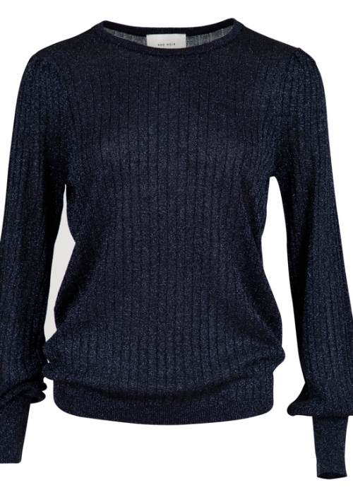 Neo Noir Loline solid knit blouse NAVY