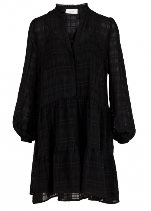 Neo Noir Federica Stripe Dress BLACK