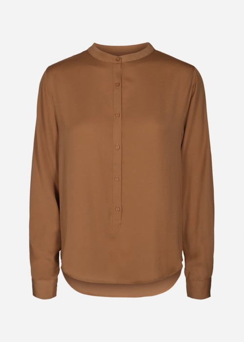 Moss Copenhagen Luella shirt TOBACCO BROWN