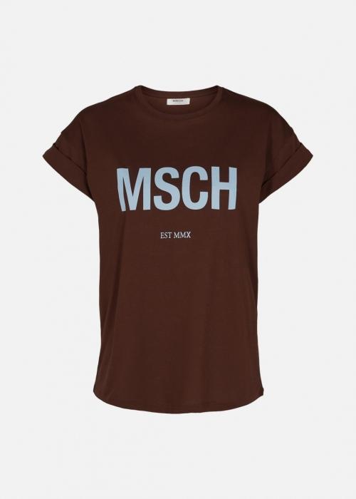 Moss Copenhagen Alva MSCH STD tee C. COFFEE / C. BLUE
