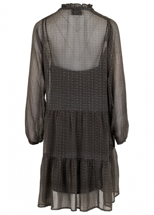 Neo Noir Federica French tile Dress