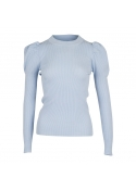 Neo Noir Vince knit blouse LIGHT BLUE