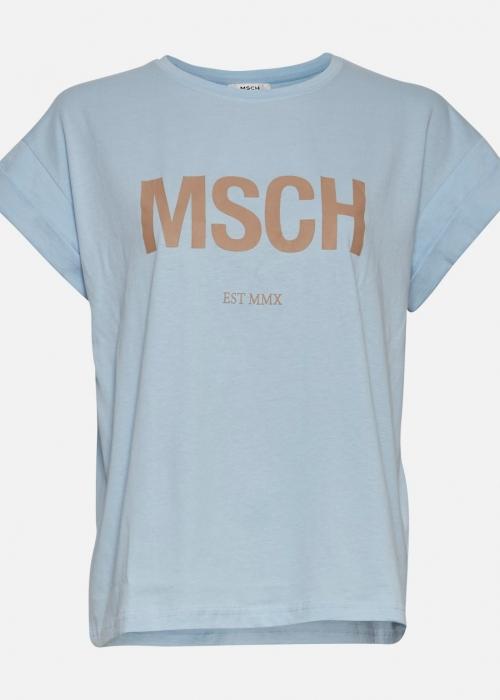 Moss Copenhagen Alva MSCH STD tee C. BLUE / NOUGAT