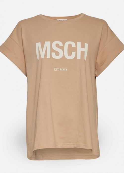 Moss Copenhagen Alva MSCH STD tee C. SAND / EGRET