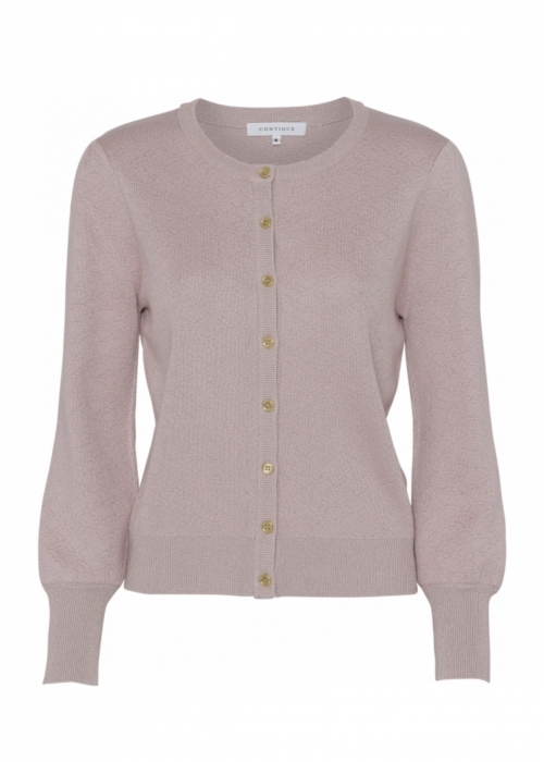 Claire Cardigan PASTEL ROSE WITH GOLD