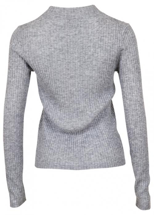 Sari knit blouse LIGHT GREY MELANGE