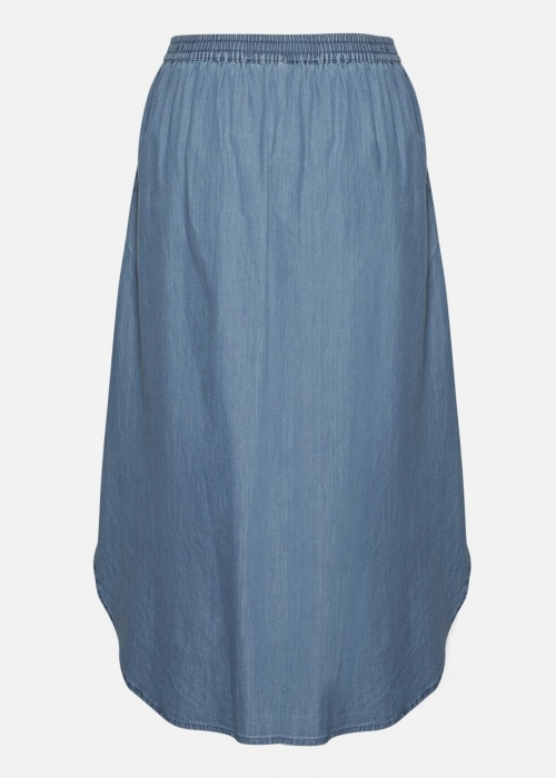 Lyanna HW skirt MID BLUE WASH