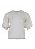 Bora solid knit blouse OFF WHITE