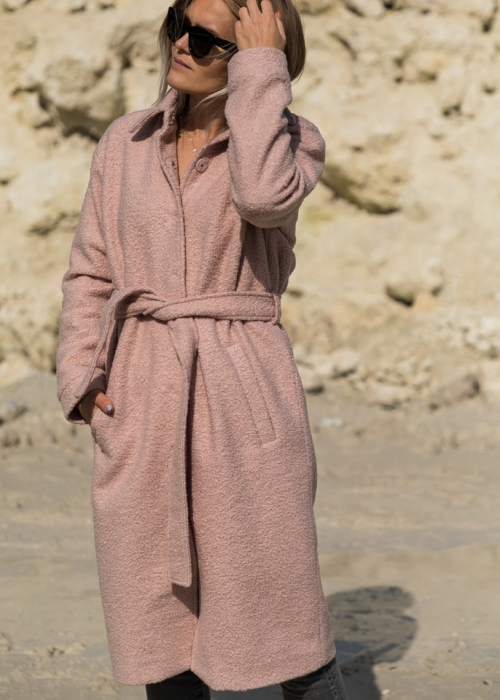Komar boucle coat ROSE