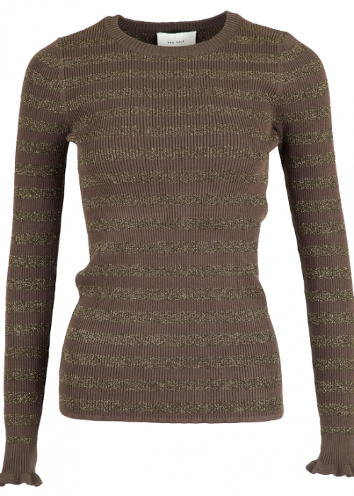 Nelle mix knit ARMY BROWN