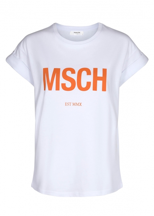 Alva MSCH STD tee WHITE / A ORANGE