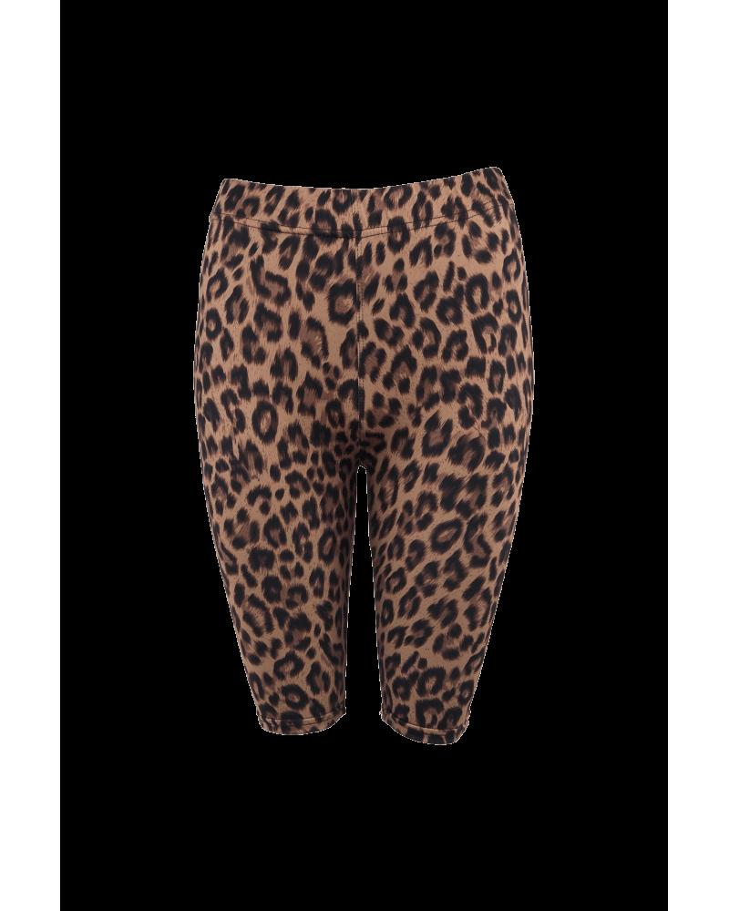Lynn tight shorts BROWN LEO