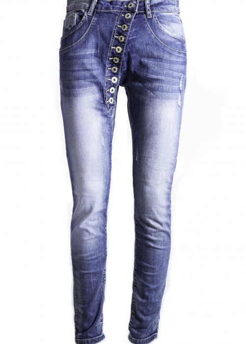 Button jeans DENIM BLUE