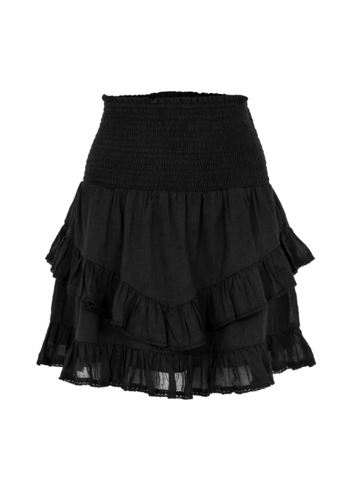Line solid skirt BLACK