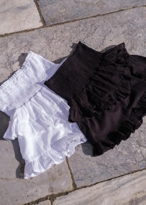 Line solid skirt BLACK