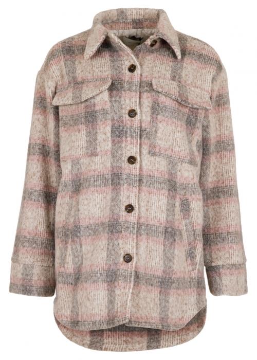 Pike melange check jacket ROSE MELANGE