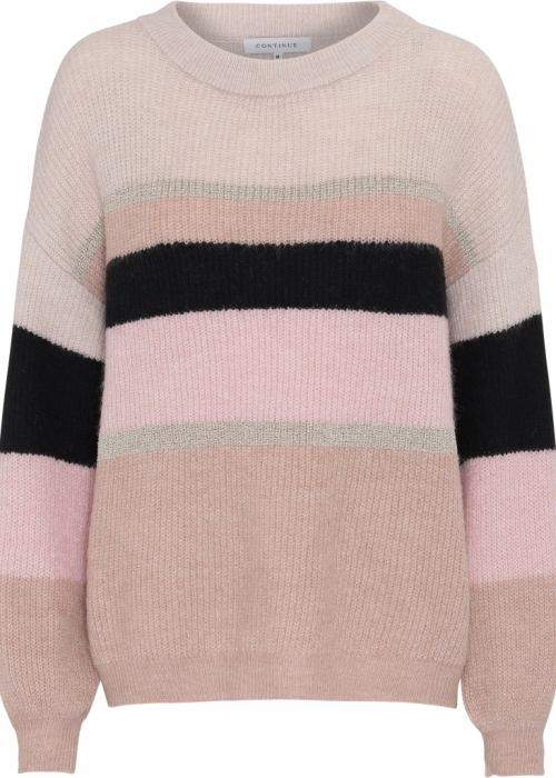 Sara knit blouse BLACK/ROSA STRIPED