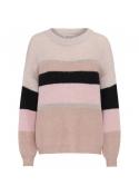 Sara knit blouse BLACK/ROSA STRIPED
