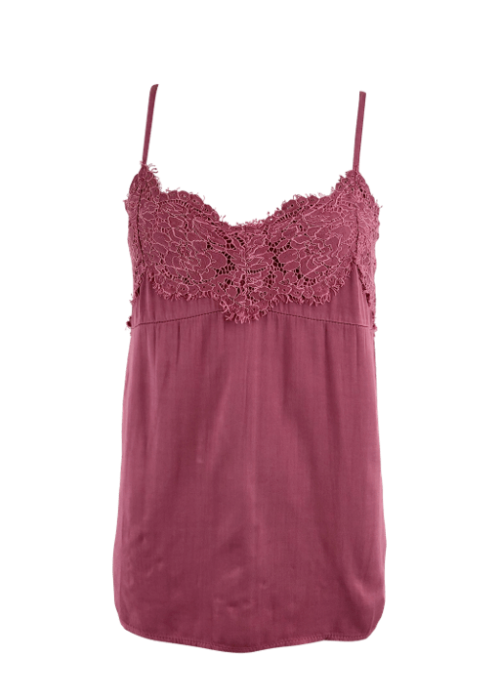Lilah lace top ROSE