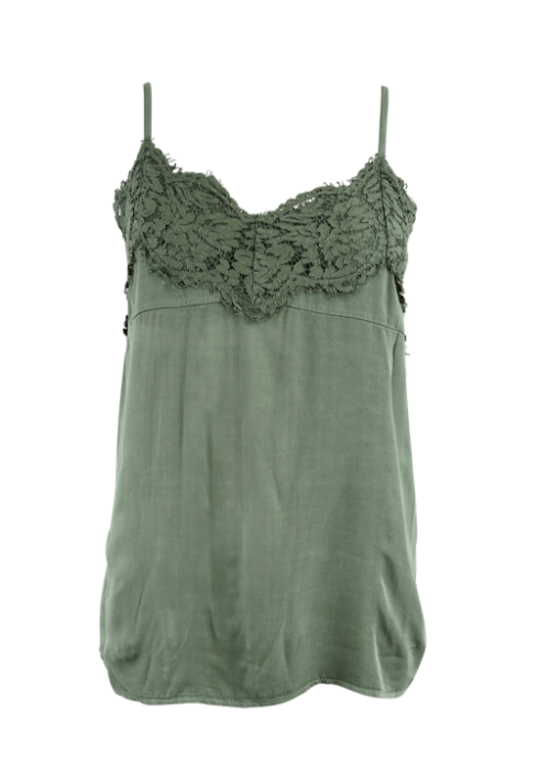 Lilah lace top OLIVE