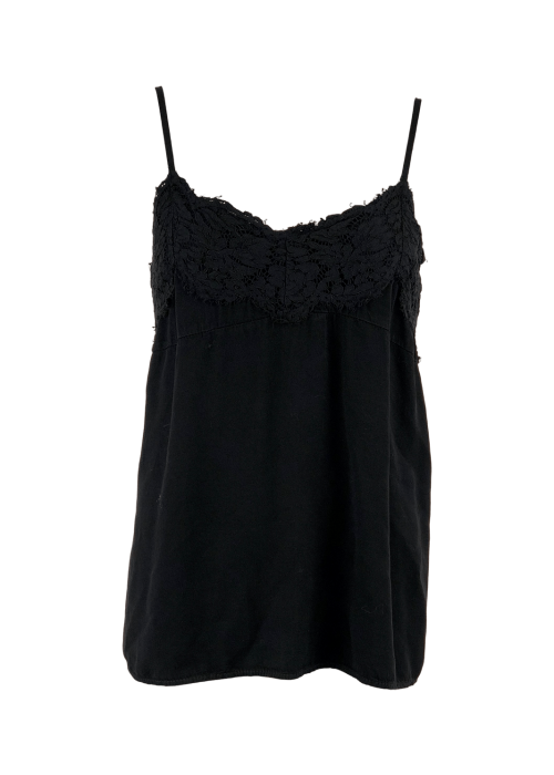 Lilah lace top BLACK