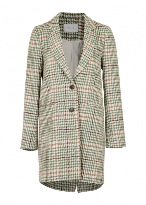 Havana classic check jacket DUSTY GREEN