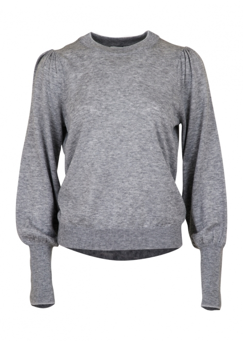 Magdalena knit blouse LIGHT GREY MELANGE