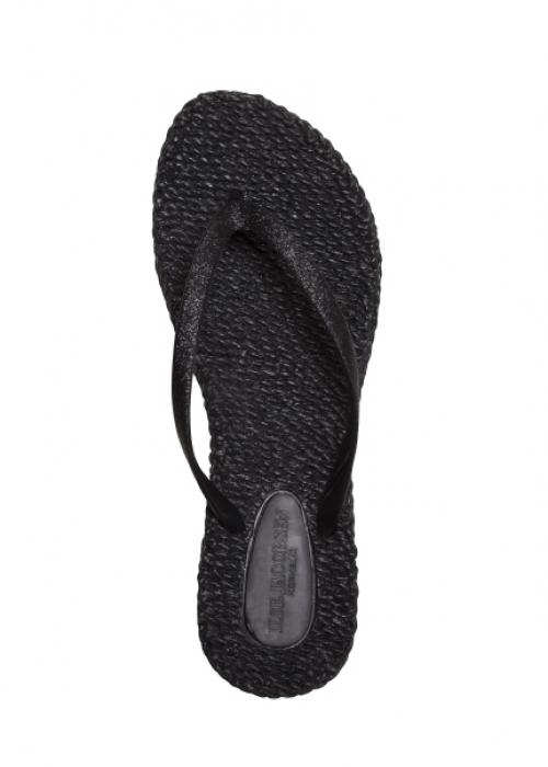 Flip flops med glitter BLACK