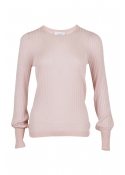 Loline solid knit blouse POWDER