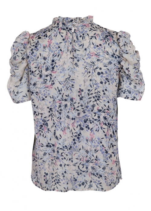 Dorris ancient flower tee FLOWER BLUE