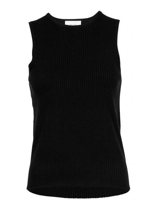Vulcano knit vest BLACK