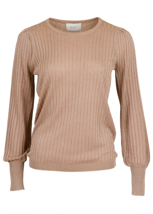 Loline solid knit blouse DARK SAND