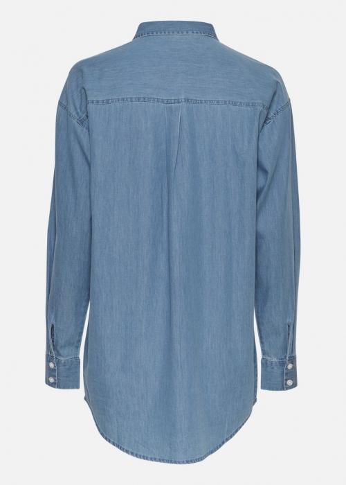 Chea Lyanna LS Shirt MID BLUE WASH