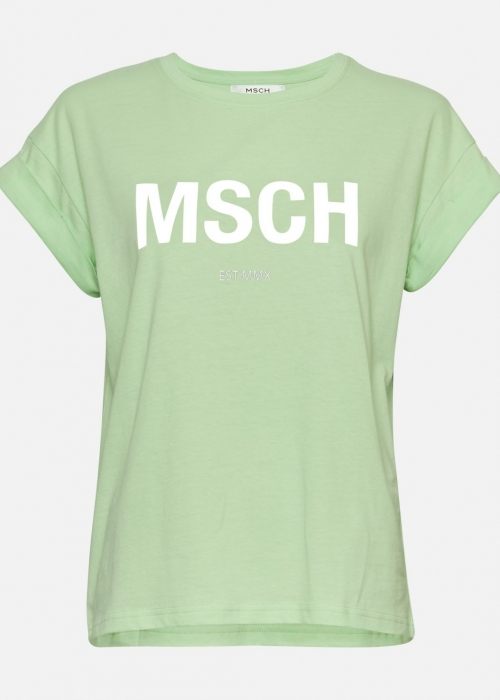 Alva MSCH STD tee P. GREEN / WHITE