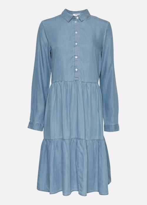Philippa LS Shirt Dress L. BLUE WASH
