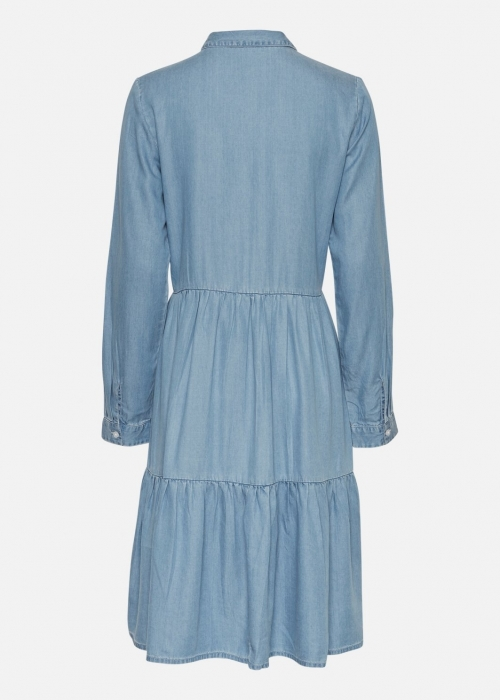 Philippa LS Shirt Dress L. BLUE WASH