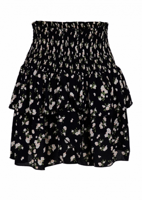 Carin night flower skirt BLACK